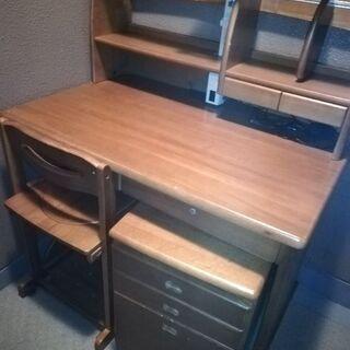 学習机(サイド机、椅子付)