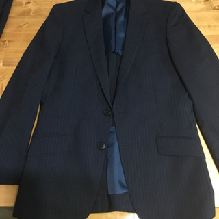 スーツ 上下 Y5 W76 ネイビー×ストライプ