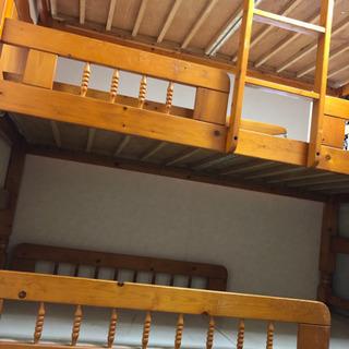 木製3段ベッド