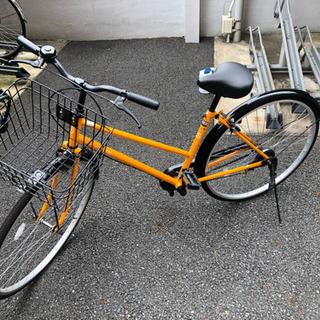 【ほぼ新品】自転車 Flute (チェーンロック付き)
