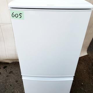 605番 SHARP✨ ノンフロン冷凍冷蔵庫❄️  SJ-14Y...