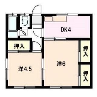山口市平野 平屋建てC(2K/1階/36.4m²)の賃貸住宅情報...