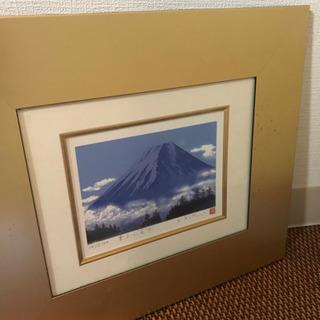 吉岡浩太郎  雲上の富士 風水版画