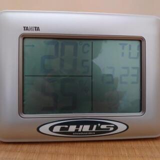 温湿度計つきデジタル時計