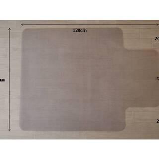 チェアマット 透明 床保護 丸洗い可能 ハードタイプ 1枚目