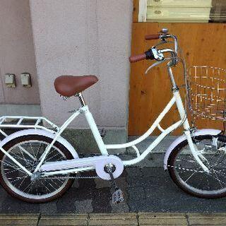 20吋 コンパクト自転車 内装3段/ホワイト