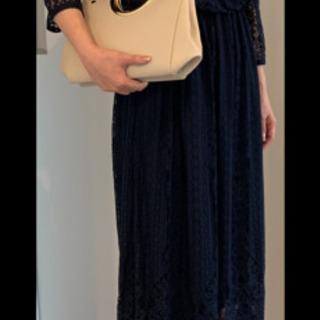 【値下げ】LASUDのドレス ネイビー