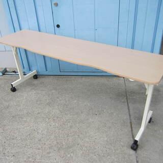 会議テーブル 並行スタックテーブル W1800 D450 ナチュ...