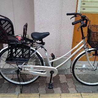 [BD]26吋 リヤチヤイルドシート付きファミリーサイクル シン...