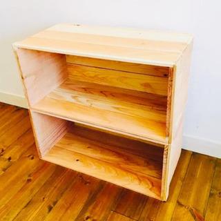 りんご箱棚や靴棚 本棚 などに木箱 DIYなどに