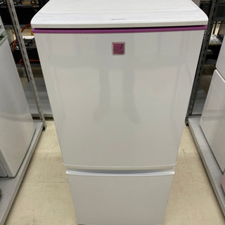 13年製 SHARP 2ドア冷蔵庫 SJ-14E1