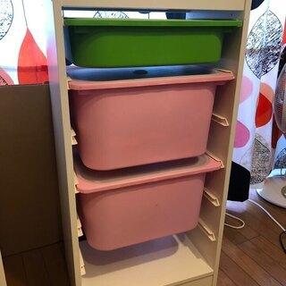 IKEA トロファスト フレーム プラスチック製ボックス+蓋 総...