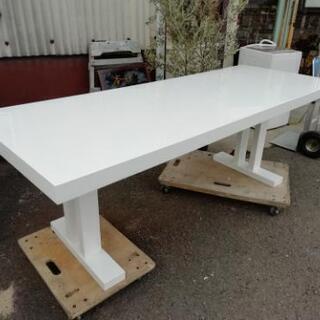 SALEです!!重厚 食卓カウンターテーブル&イス3脚セット