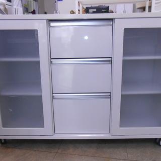 両面キッチンカウンター 棚面は未使用