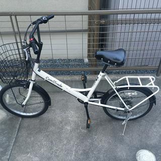 【鍵無し/ライトあり/パンク】ミニベロ自転車