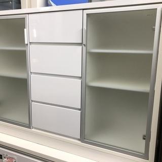【リサイクルショップどりーむ荒田店】1096 食器棚 収納 ホワイト