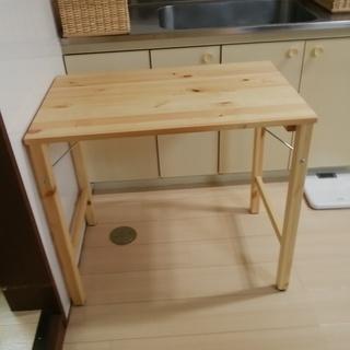 折りたたみテーブル パイン材
