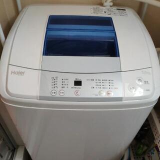 3年前に購入した新品洗濯機Haier 5kg