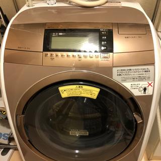 【中古美品】2016年製ドラム式洗濯機 日立 BD-V110E3L