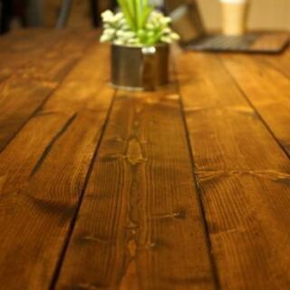 無垢木製8人掛けダイニングテーブル&ベンチ - 札幌市