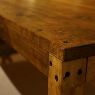 無垢木製8人掛けダイニングテーブル&ベンチ − 北海道
