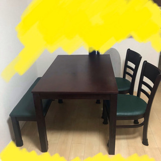 ダイニングテーブル4点セット