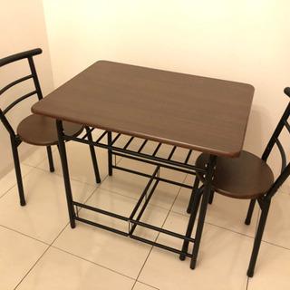 【取りに来てくれる方限定】テーブル&イスセット