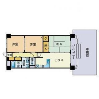 ★★★分譲マンション賃貸 3DKマンション 南向き 日当たり良好...