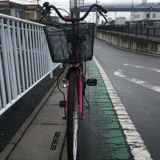 【中古自転車】26インチ  (パールピンクメタリック)