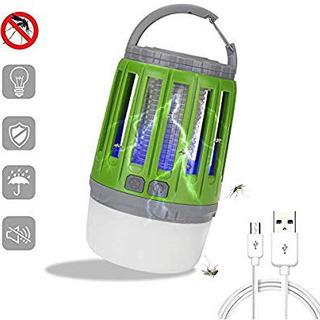 電撃殺虫器 uv光源吸引式捕虫器 LEDランタン 蚊取り器 Li...