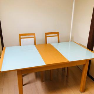 ニトリ 伸張式 ダイニングテーブル 美品