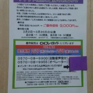 歌舞伎座  三月大歌舞伎 チケット特別優待割引券
