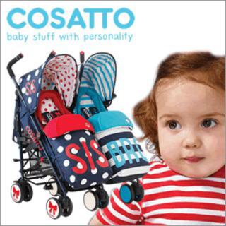 コサット(COSATTO)シスブロ☆ベビーカー 双子