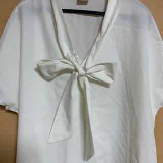 試着のみ 白いワークシャツ