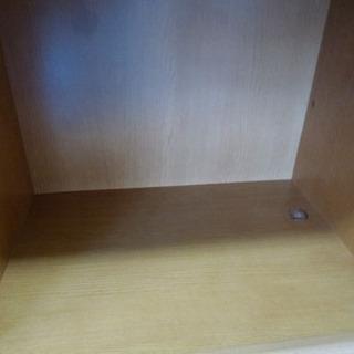 小型食器棚 ガラス引き戸 コンパクト ナチュラルキャビネット ¥2,800- - 家具