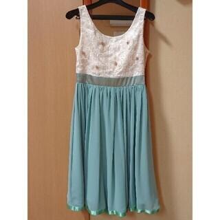 ミントグリーン ドレス ワンピース Mサイズ