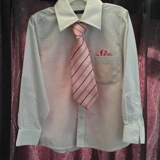 キッズワイシャツ Yシャツ 110cm 男の子 フォーマルシャツ...