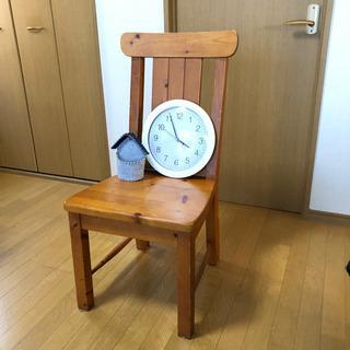 ナチュラル/ カントリー調【チェア】木の椅子 - 売ります・あげます