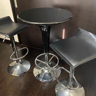 ◆デザイナーズ バーテーブル&チェア 2点 セット◆