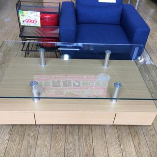 美品 ニトリ 収納付きガラストップセンターテーブル スプレンダー3