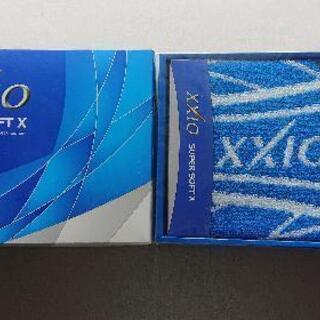 【未使用】XXIO セット(タオル、ボール、ティー)