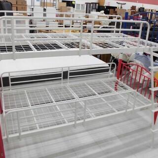 ニッセン 2段ベッド 子供用 スチール製 はしご付き 苫小牧西店