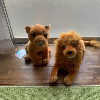 ライオン親子人形