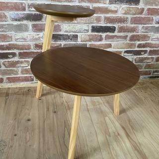 ◆丸型サイドテーブル(2段)◆