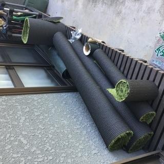 【値下げしました】人工芝端材、防草シート端材、他