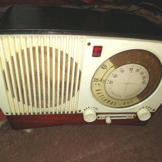 ナショナル昭和レトロ真空管ラジオ AL-520