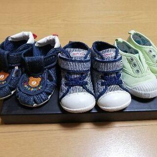 靴、14センチ14.5センチ アンパンマン ミキハウス