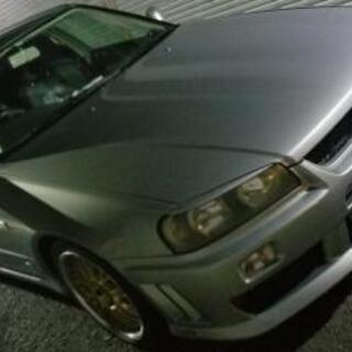 日産 スカイライン HR34 GT フルセグナビ ETC wor...