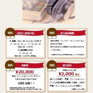 9月27日(日) ナレーションレッスン 講師:菊地信子
