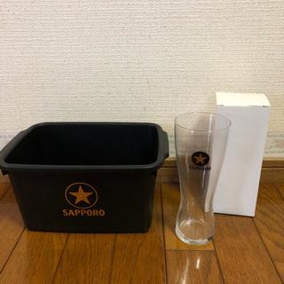 サッポロビールのグラスとバケットのセット 2セット